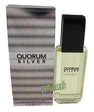 QUORUM SILVER BY ANTONIO PUIG 3.4 OZ EDT FOR MEN NIB