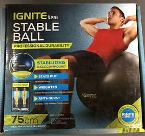 IGNITE by SPRI Weighted Stable Ball Stabilizing Base Compound 75 CM w/ Air Pump