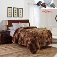 "Luxury Plush Faux Fur Blanket for Bed Sofa Couch Decortive Fluffy Throw 60""x80"""