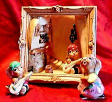 Pendelfin Framed Balcony Scene With 2 Casanovas Bunnies And 1 Tambourine Player