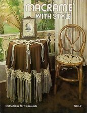 Craft Book: #Gm9 Macrame With Style - Insturctions for 15 Projects