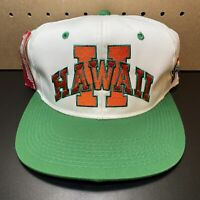 RARE Vintage University of HAWAII hat Rainbows Sports Cardinal Cap Logo Athletic