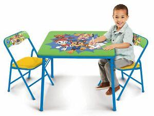 Paw Patrol Kids Erasable Activity Table (Green/Yellow)