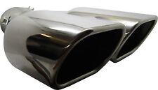 Twin Square Stainless Steel Exhaust Trim Tip Volvo S40 1995-2012