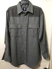 Roundtree & Yorke Outdoor Men's Button Up Shirt , Size M , Gray.