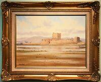 Original Irish Art Oil Painting CARRICKFERGUS CASTLE, N. IRELAND by MANSON BLAIR