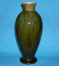 Vintage Art Pottery - Attractive Tall Green Veined Pattern Baluster Style Vase.