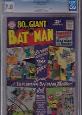80 PAGE GIANT #12 CGC 7.0 FN/VF July 1965 CREAM to O/W pages - BATMAN
