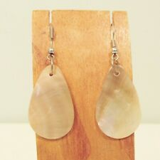 "1 1/4"" Teardrop Shape Handmade Natural  Mother of Pearl Shell Fashion Earring"