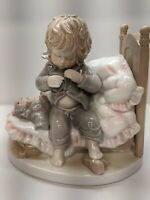 "Dolfi Child in Bed Figurine Lisi Martin Pastel Colors 5"" Tall Collectable Decor"