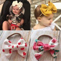Baby Nylon Headband Rabbit Bow knot Turban Elastic Hair Bands for Girls Headwear