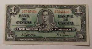1937 Canada One Dollar Banknote 3366