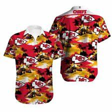Kansas City Chiefs Hawaiian Shirt Men's Summer Beach Short Sleeve 3D T-Shirt HOT