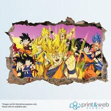 Dragonball Z Characters Goku Wall Smash Decal Sticker 3D Bedroom Vinyl Mural Art