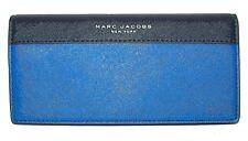 MARC JACOBS Indigo Multi Saffiano Leather Bifold  Clutch Wallet NWT