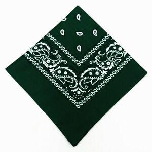 Paisley BANDANAS ~ 6 Pack  (1/2 Dozen) Soft Polyester Unisex scarf U Pick Color