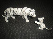 LOT 2 FIGURINES SCHLEICH PAPO 2006 / 2007 - 15 CM - TIGRE BLANC ET PETIT