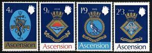 SG 121-124 ASCENSION 1969 ROYAL NAVAL CRESTS SET - UNMOUNTED MINT