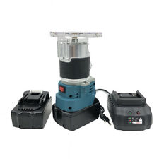 """850w 18v Wood Electric Trimmer 30000r/min 1/4"""" Collet Diameter with Two Batteris"""