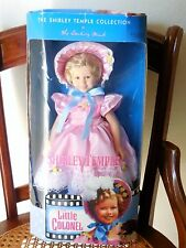 "Shirley Temple Doll 14"" Tall - Little Colonel - 1996 Danbury Mint - Mint In Box"
