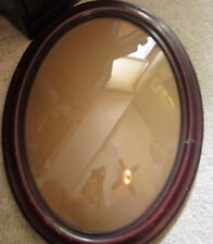 """Antique Wooden Curved, Bubble Glass Photo/Picture Frame, 16 1/2"""" x 22 1/2"""""""