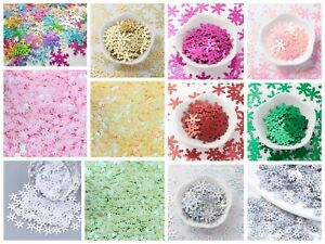 Lady-Muck1: Snowflake Sequins Confetti Card-Making Scrapbooking Nail Art - UK