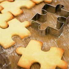 2x acier inoxydable Jigsaw Shape Cutter moule à gâteau pour la cuisson HQ