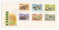 1986 Tokelau isole PRIMO GIORNO DI COPERTURA AGRICOLTURA & problemi di bestiame