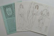 Vintage Renaissance Man 1987 Charlotte Whatley Paper Doll Artist Signed Numbered