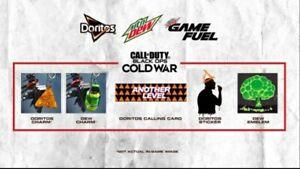 🔥 Call of Duty Black Ops Cold War & War Zone Mountain Dew Doritos 5 Item Code