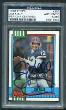 1990 Topps Jim Kelly #207 HOF Signed Autograph Auto Bills PSA DNA