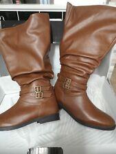 Wide leg knee high boots size 6