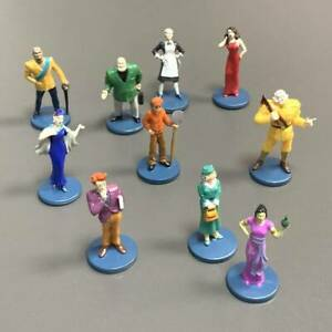 SET OF 10PCS 2002 Clue Board Game Suspetcs Pawns Tokens Movers Figures Toys