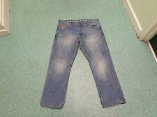 "Crosshatch Straight Jeans Waist 36"" Leg 30"" Faded Medium Blue Mens Jeans"