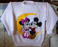 MICKEY MINNIE MOUSE DISNEY JUMPER LADIES SIZE 12-14 NEW HANDKNITTED