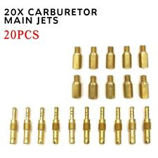 20X Carburetor Main Jets w/Slow Pilot Jets High Quality For Motorcycle Carb