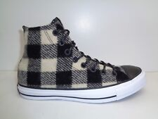 Converse Size 7.5 WOOLRICH White Black Wool High Top Sneakers New Womens Shoes