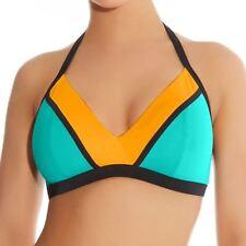 Freya Swimwear Bondi Soft Cup Triangle Bikini Top Sea Spray Green/Orange 3242
