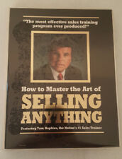 Tom Hopkins How To Master The Art Of Selling Anything 12 Cassete & Unused Wkbook