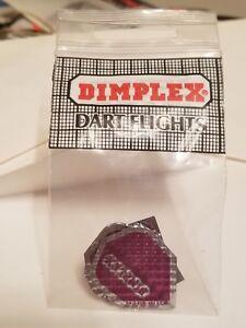 Dimplex 3-D Dart Flights Silver//Black D6-25 Slim Shape