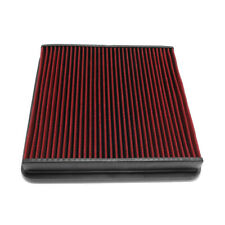 Fit F150/Super Duty/Expedition Red Reusable/Durable Air Filter Intake Panel