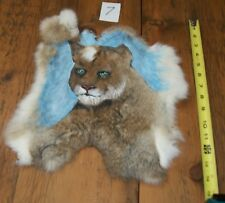 Lions Hand Painted on Rabbit Fur