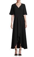 MNYC Isaac Mizrahi 179$ Flutter Sleeve Maxi Wrap Dress Size XL