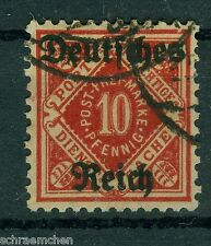 Deutsches Reich Dienstmarken  53 II , o , Plattenfehler II