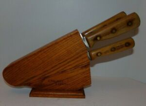 Chicago Cutlery Hardwood Block and 4 knives set