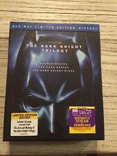 The Dark Knight Trilogy Ltd Edit 5 Blu-ray FREE Postage - mmoetwil@hotmail.com