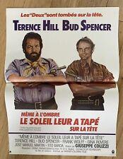 MEME A L'OMBRE LE SOLEIL LEUR A TAPE SUR LA TETE Affiche cinéma 40x55cm  COLIZZI