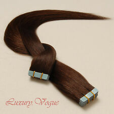 40Pcs Seamless Tape-in Extensions 100% Human Hair Remy A+ #4 (Dark/Medium Brwn)