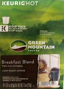 Green Mountai Breakfast Blend, Keurig 24 K-Cup Pod, Light Roast * Best by 2/2020