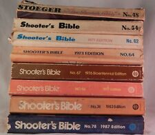 Vintage Shooters Bible Hunting Firearms Edition Year 1957 Thru 1987 Lot of 8